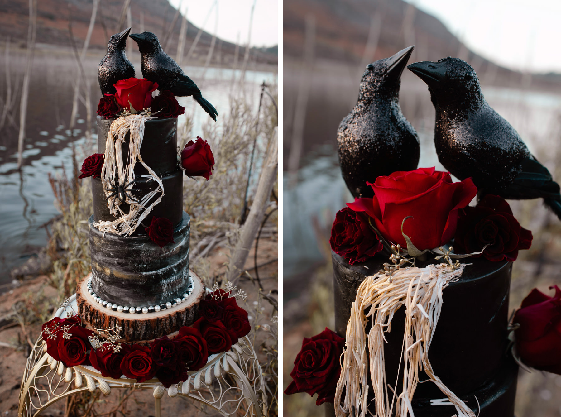 Halloween styled bridal