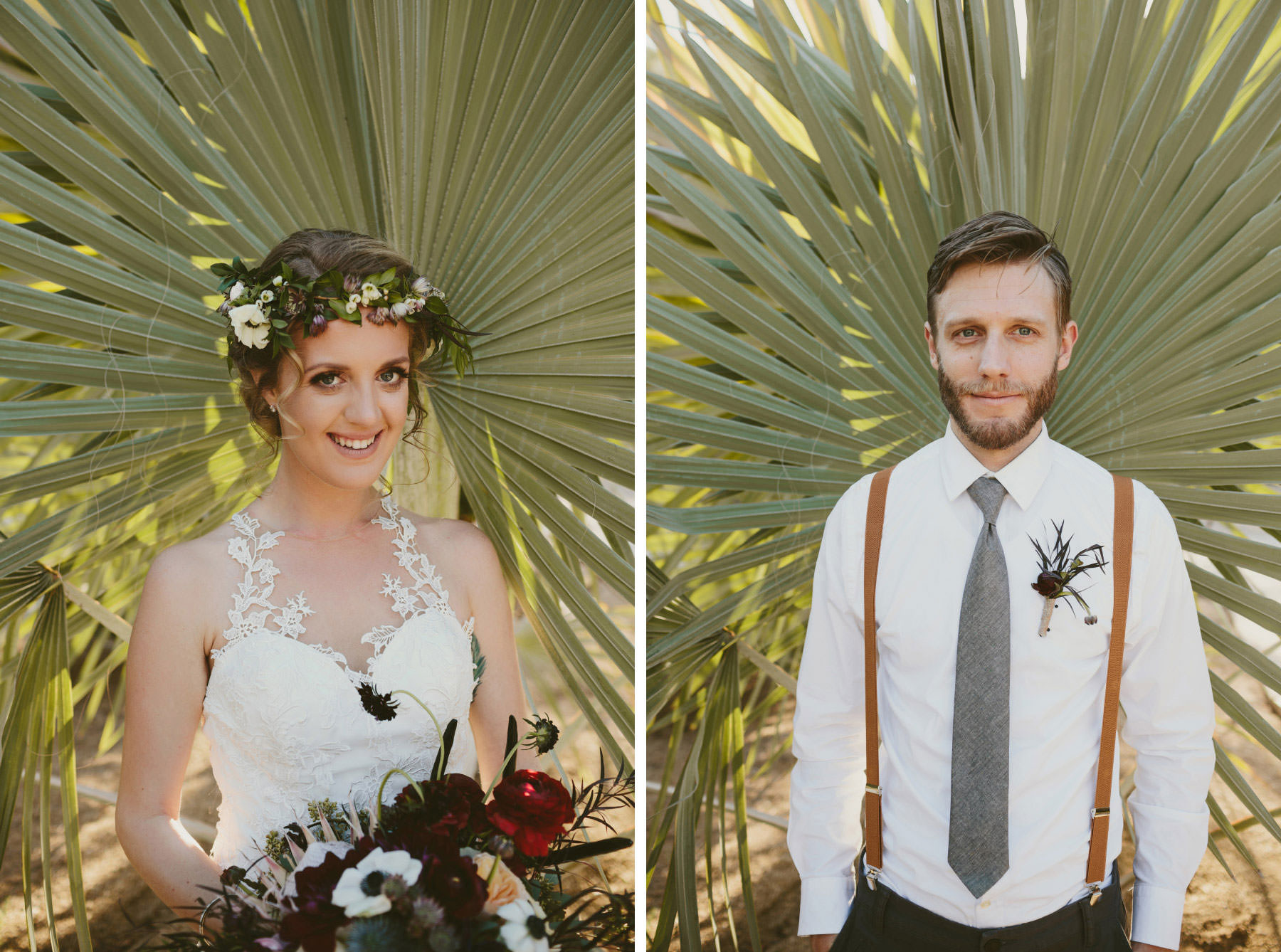 Balboa cactus garden wedding portraits