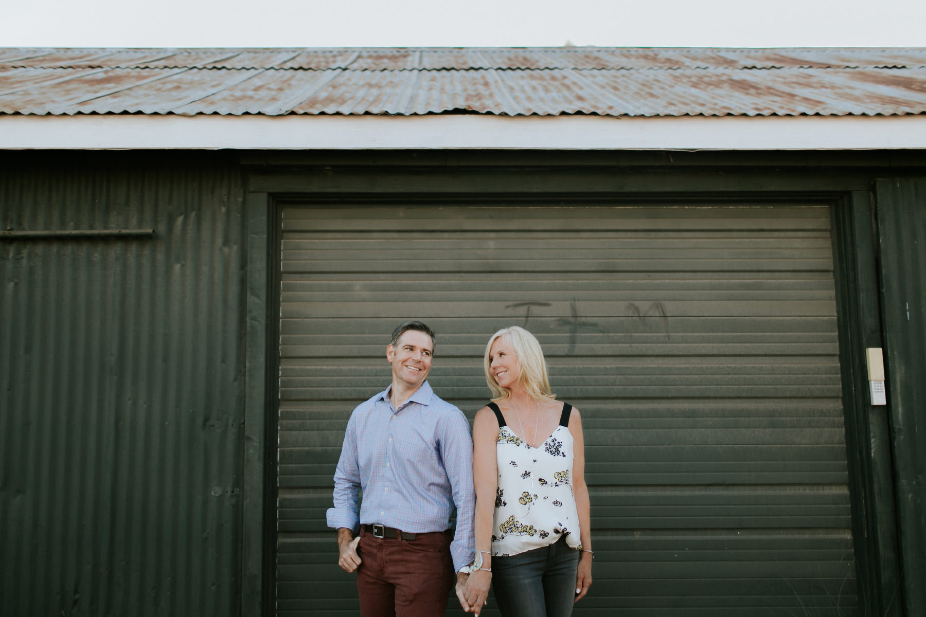 Engagement session at South Cedros Design District in Solana Beach