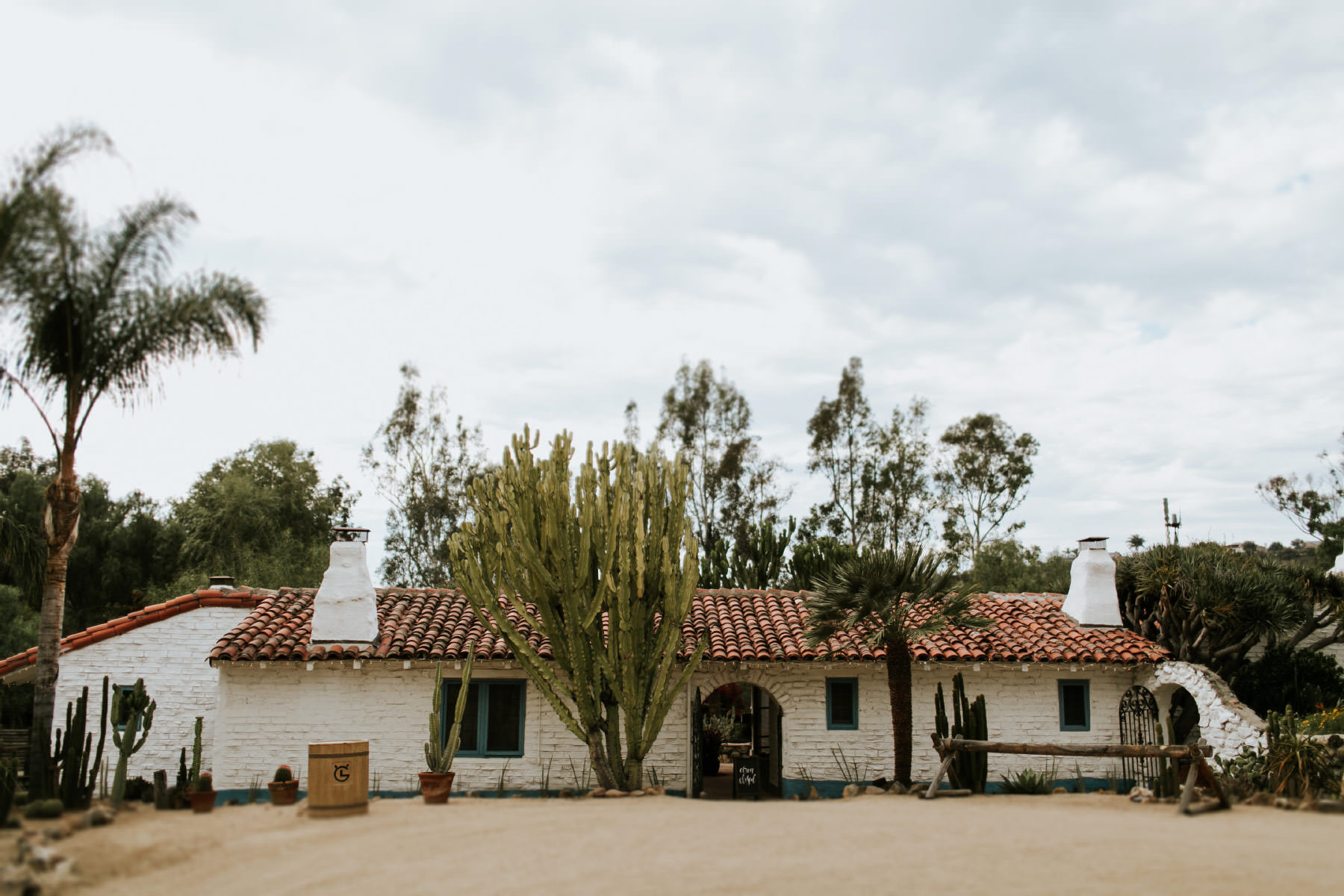 Front of the hacienda at Leo Carrillo Ranch