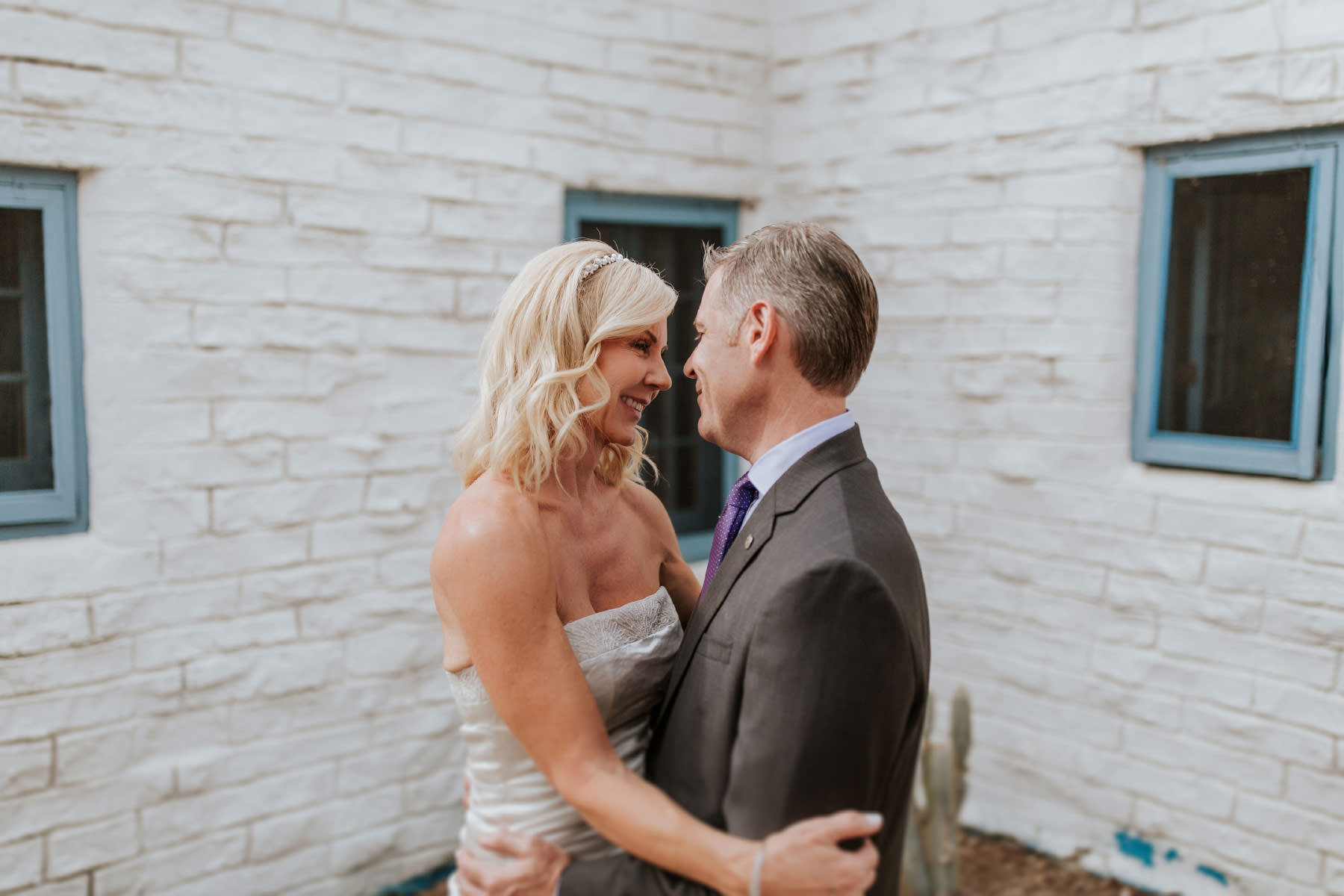 Bride and groom at Leo Carrillo Ranch wedding