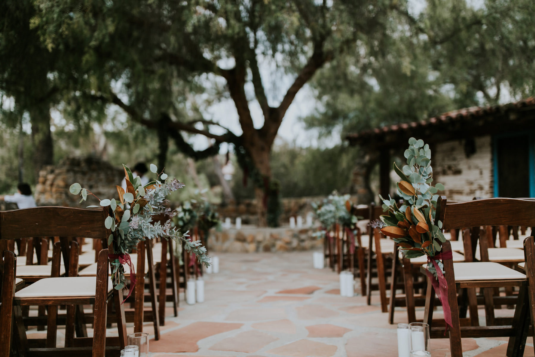 Ceremony seating at Leo Carrillo Ranch wedding