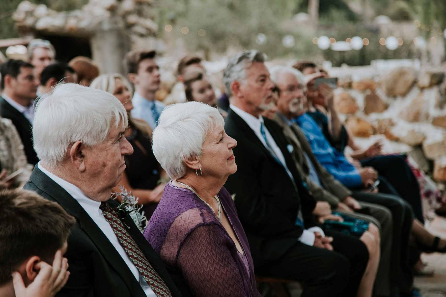 Family witnessing ceremony at Leo Carrillo Ranch