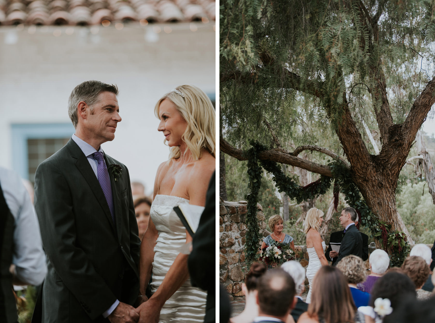 Groom admiring his bride at Leo Carrillo Ranch wedding