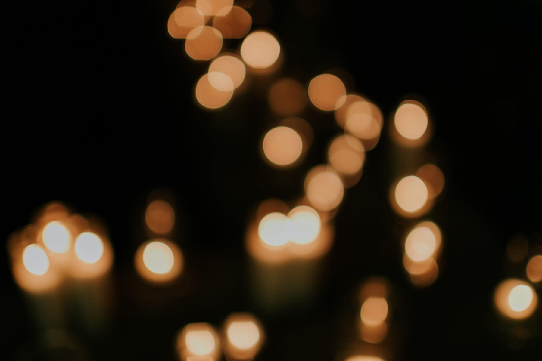 Light bokeh at Leo Carrillo Ranch wedding