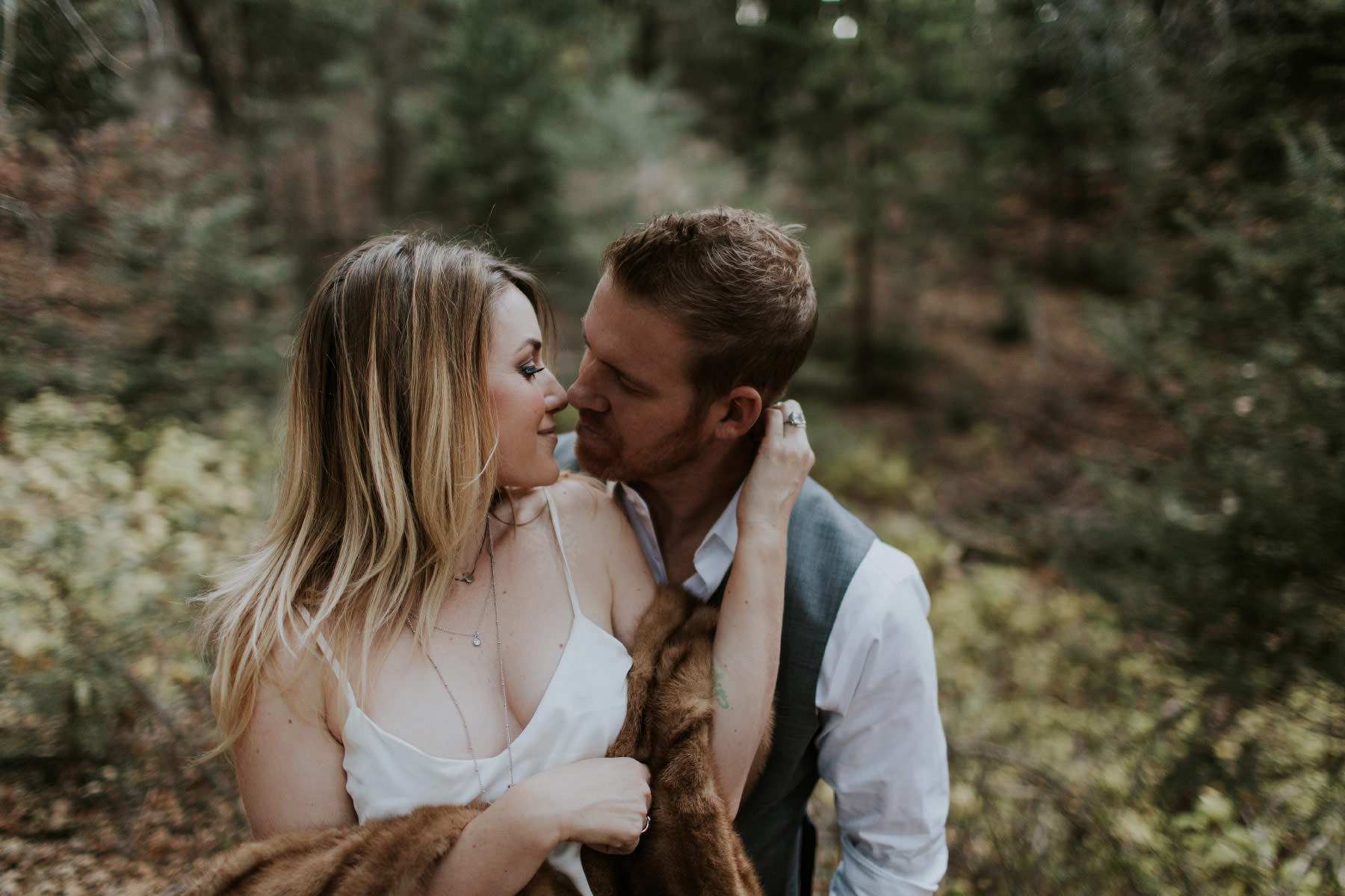 Intimate engagement session at Palomar Mountain