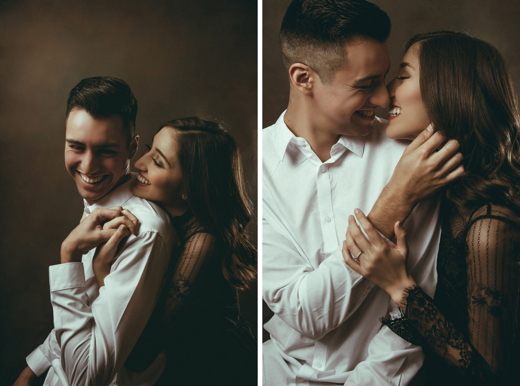 Editorial of fashionable couple laughing