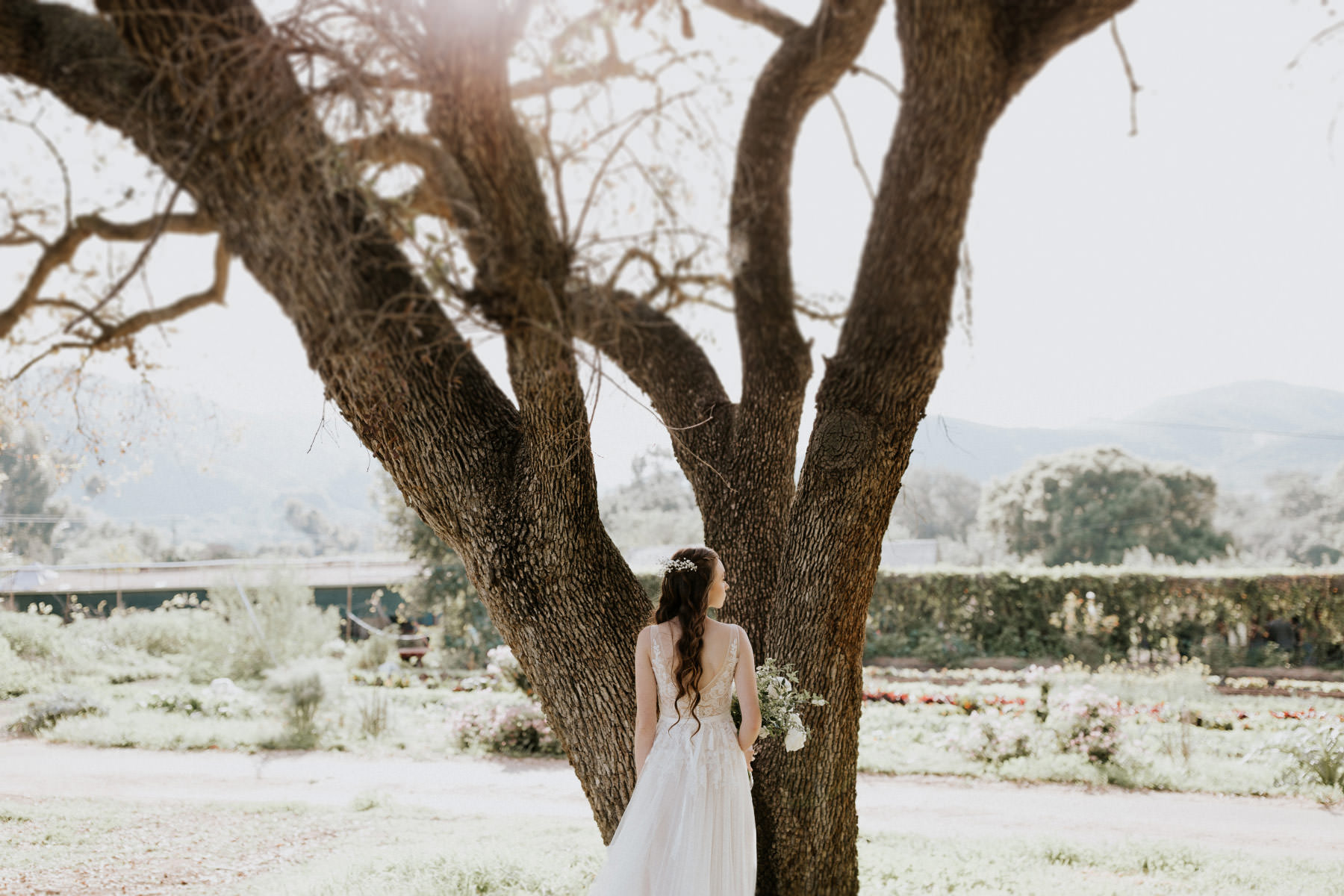 BHLDN flowy lace dress
