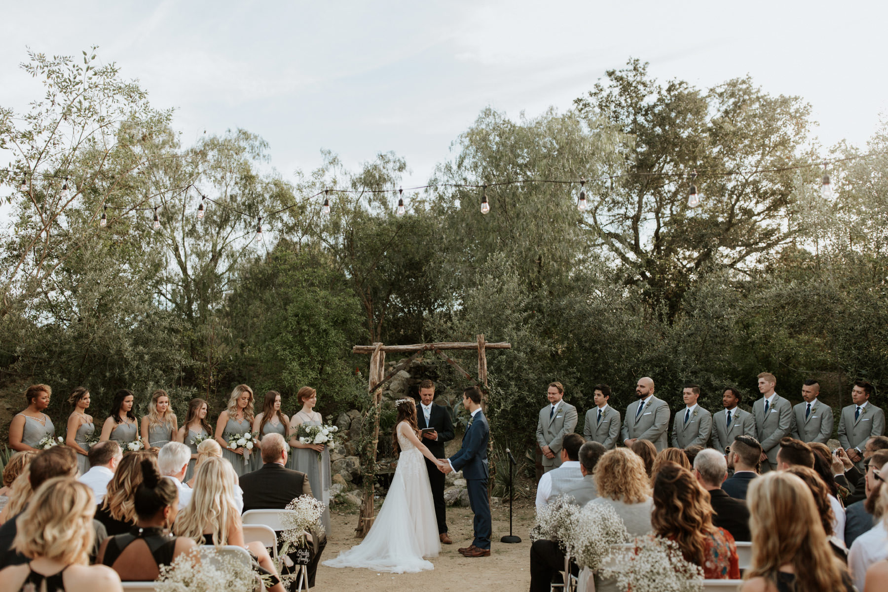 Terra Madre Gardens wedding ceremony