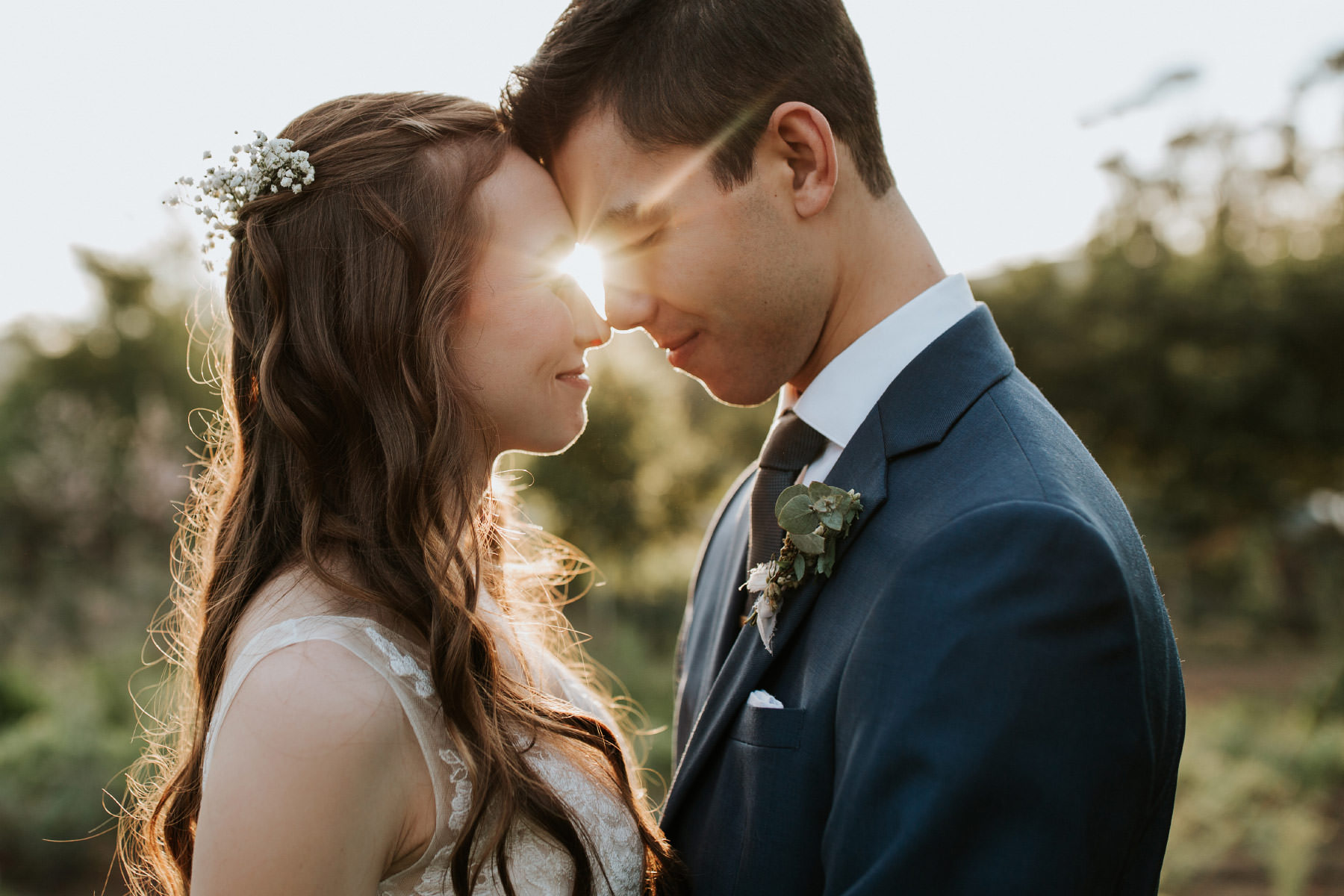 Golden hour at Terra Madre Gardens wedding