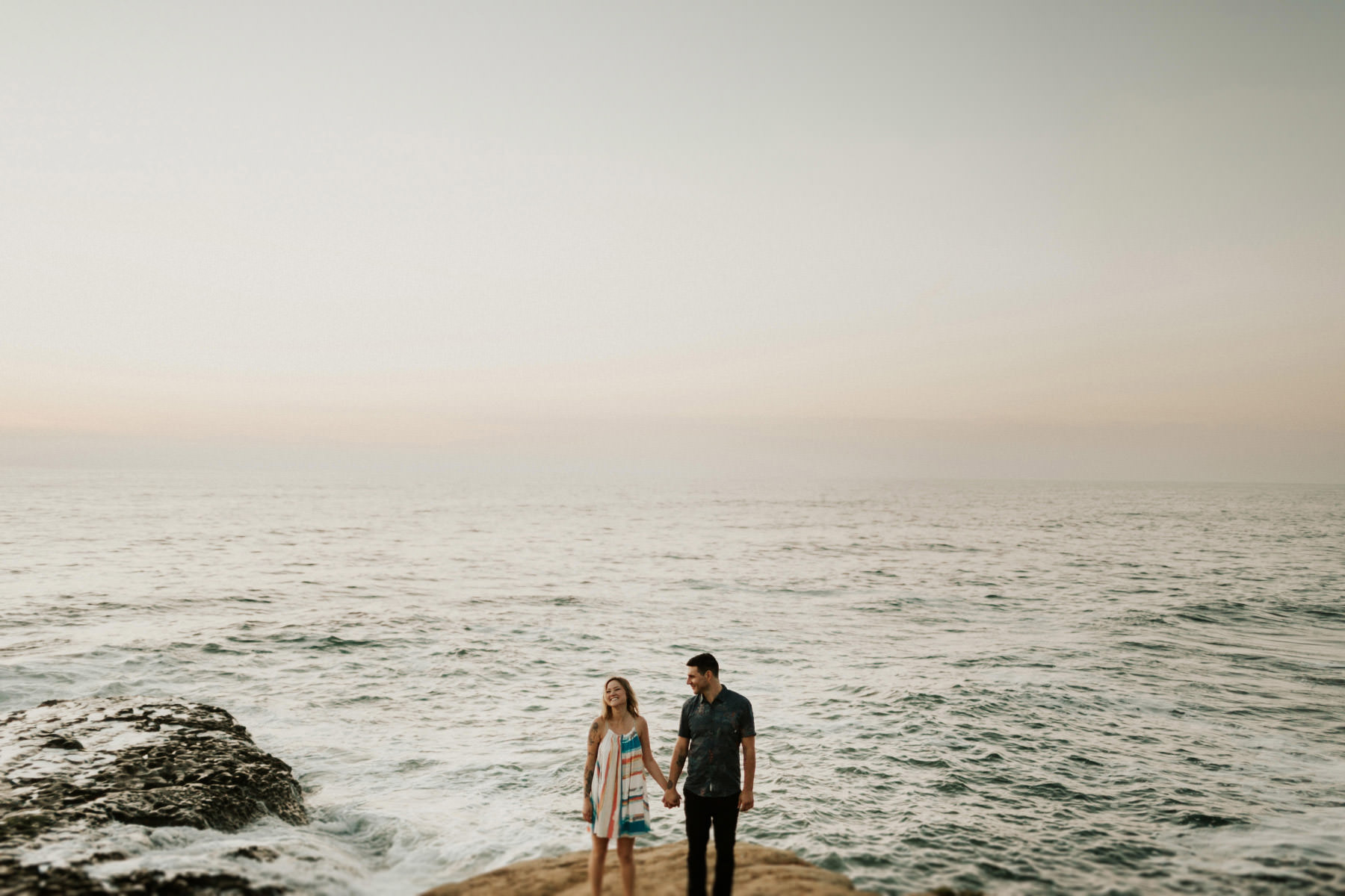 Engagement couple at Sunset Cliffs
