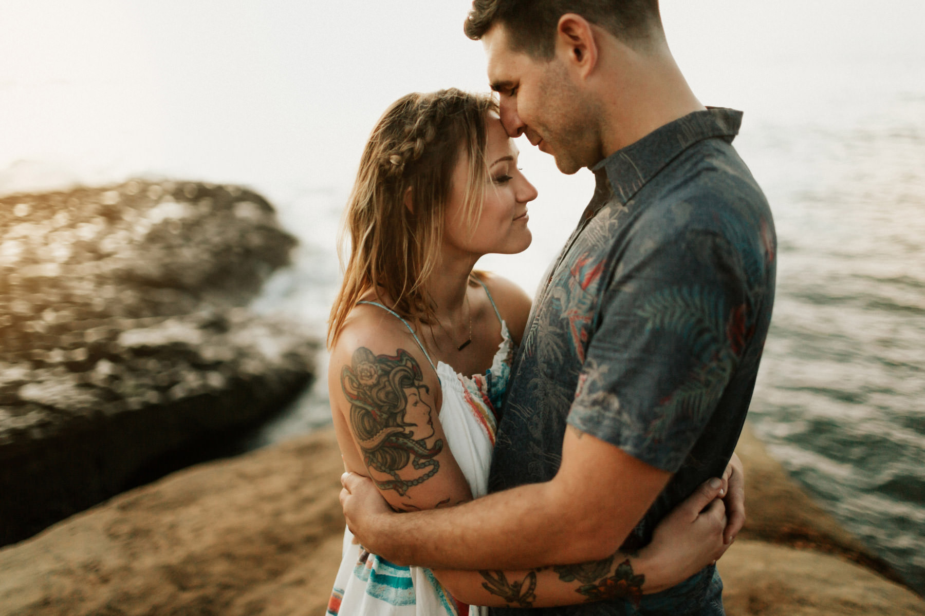 Engagement session at Sunset Cliffs