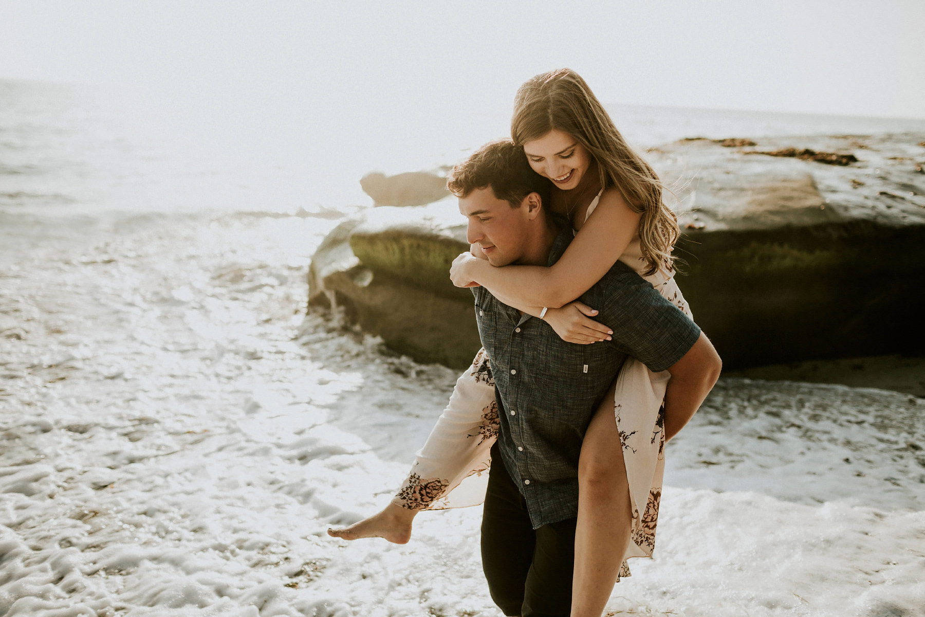 Windansea beach engagement in San Diego