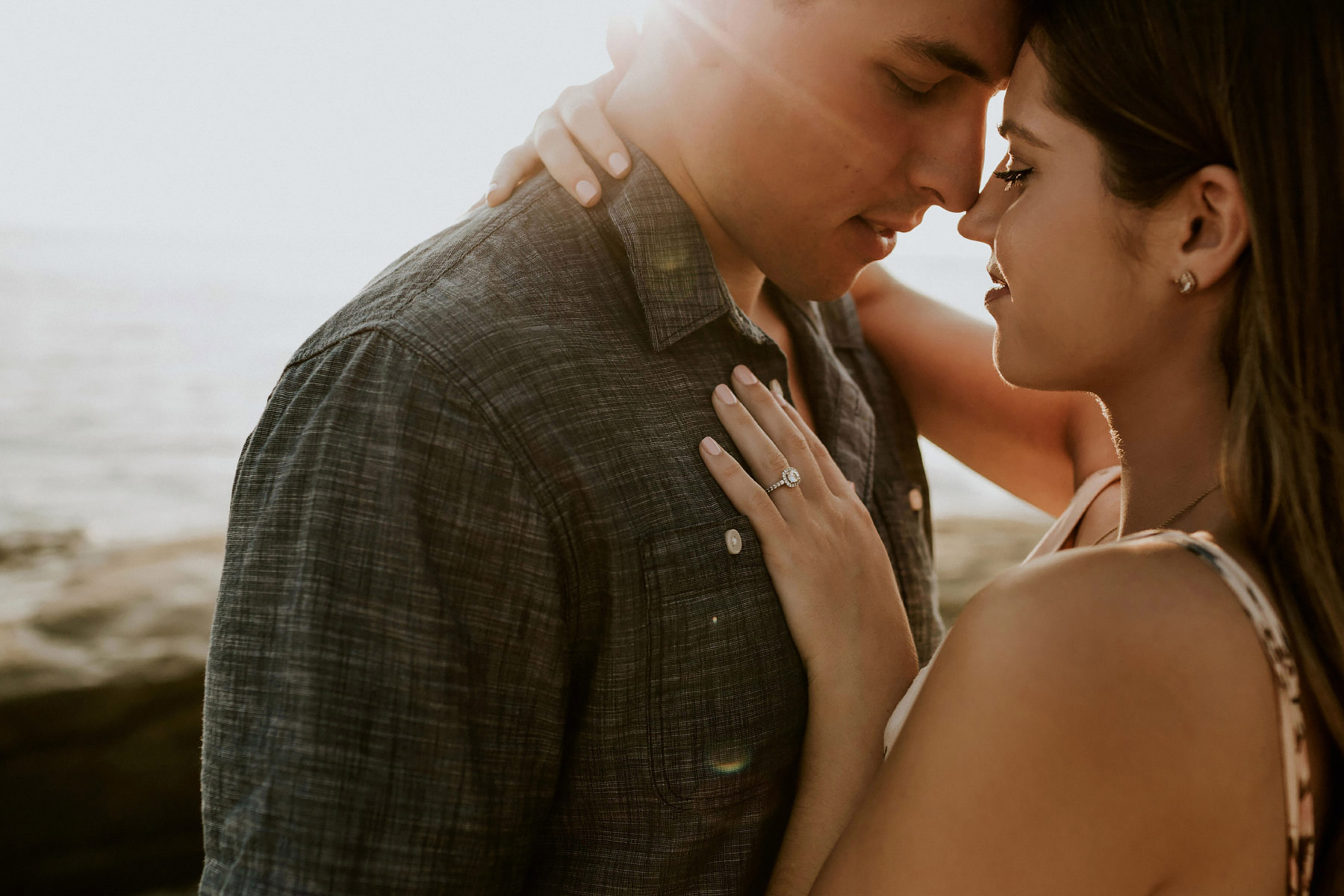 Intimate San Diego sunset engagement