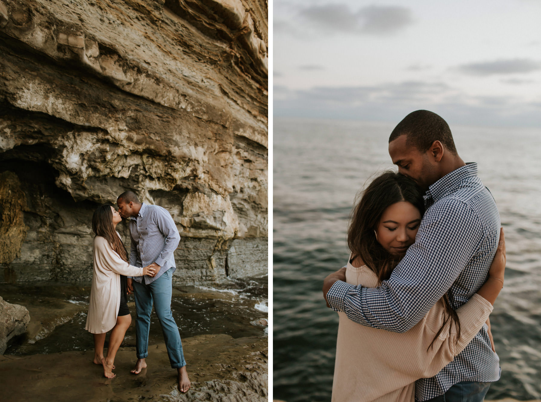 Engagement session at Sunset Cliffs tidepools