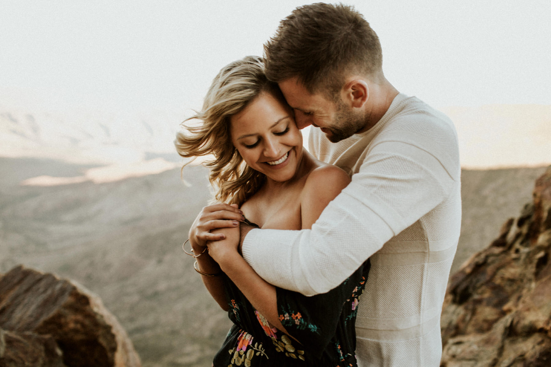 Desert mountaintop love session