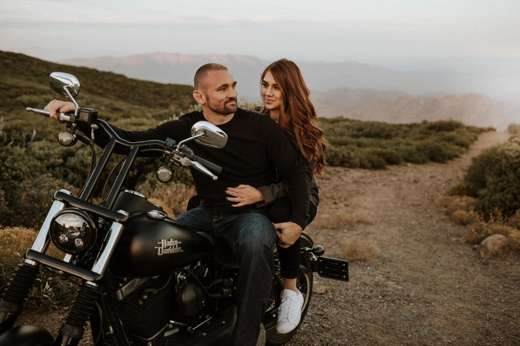 Mountain Motorcycle Couple : Kelly & Waylon