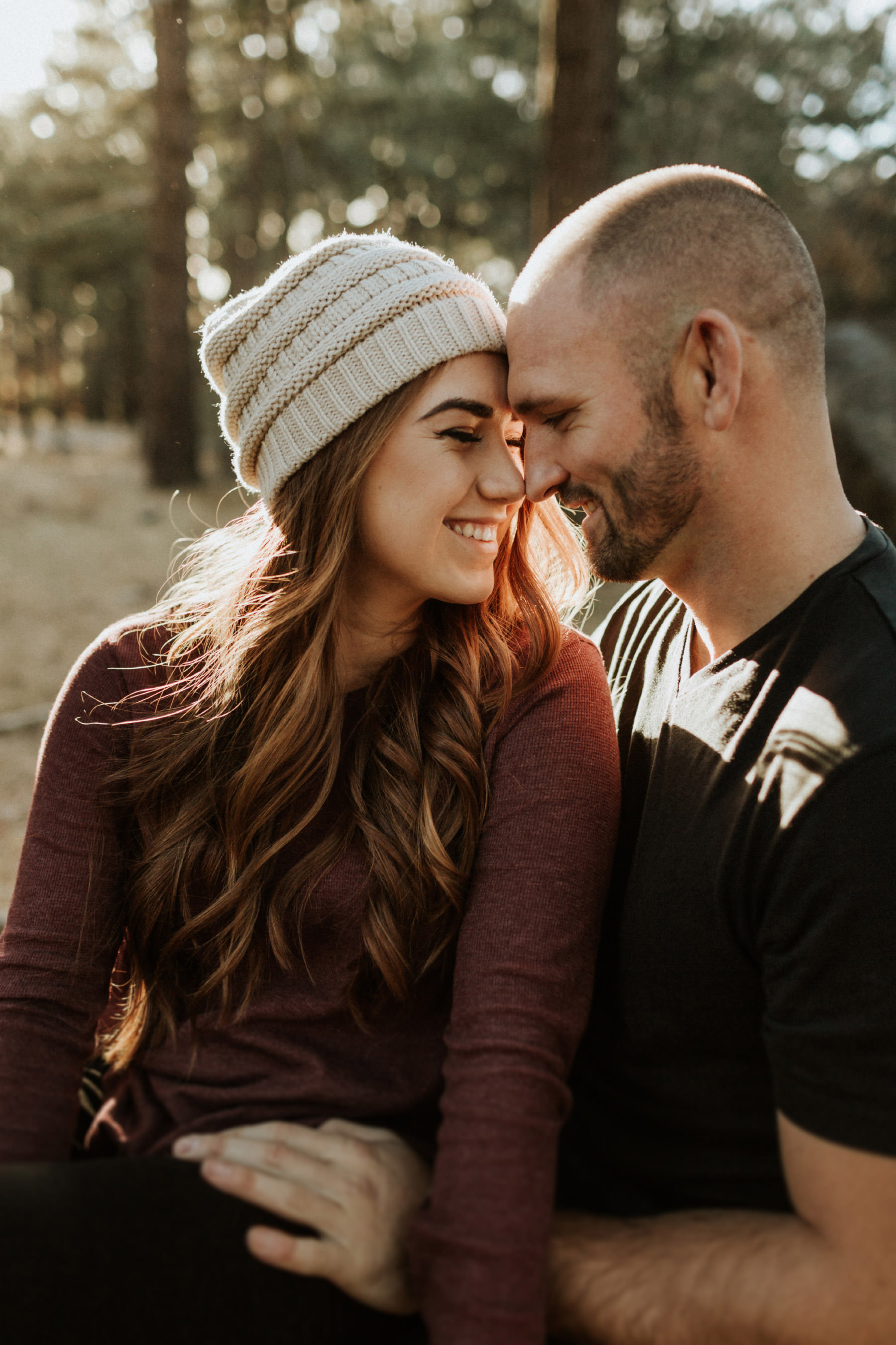 Woodsy fall engagement in Mount Laguna