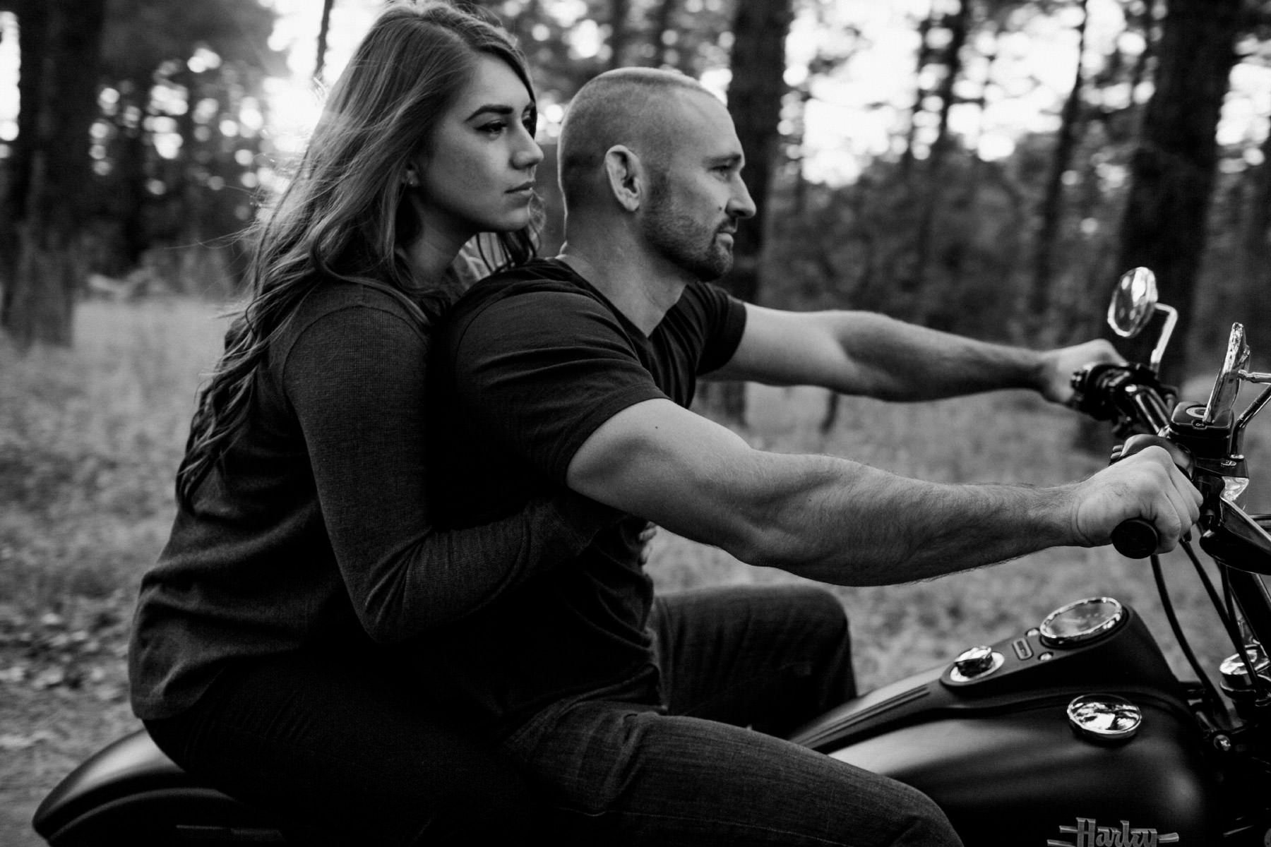 Mount Laguna motorcycle couple