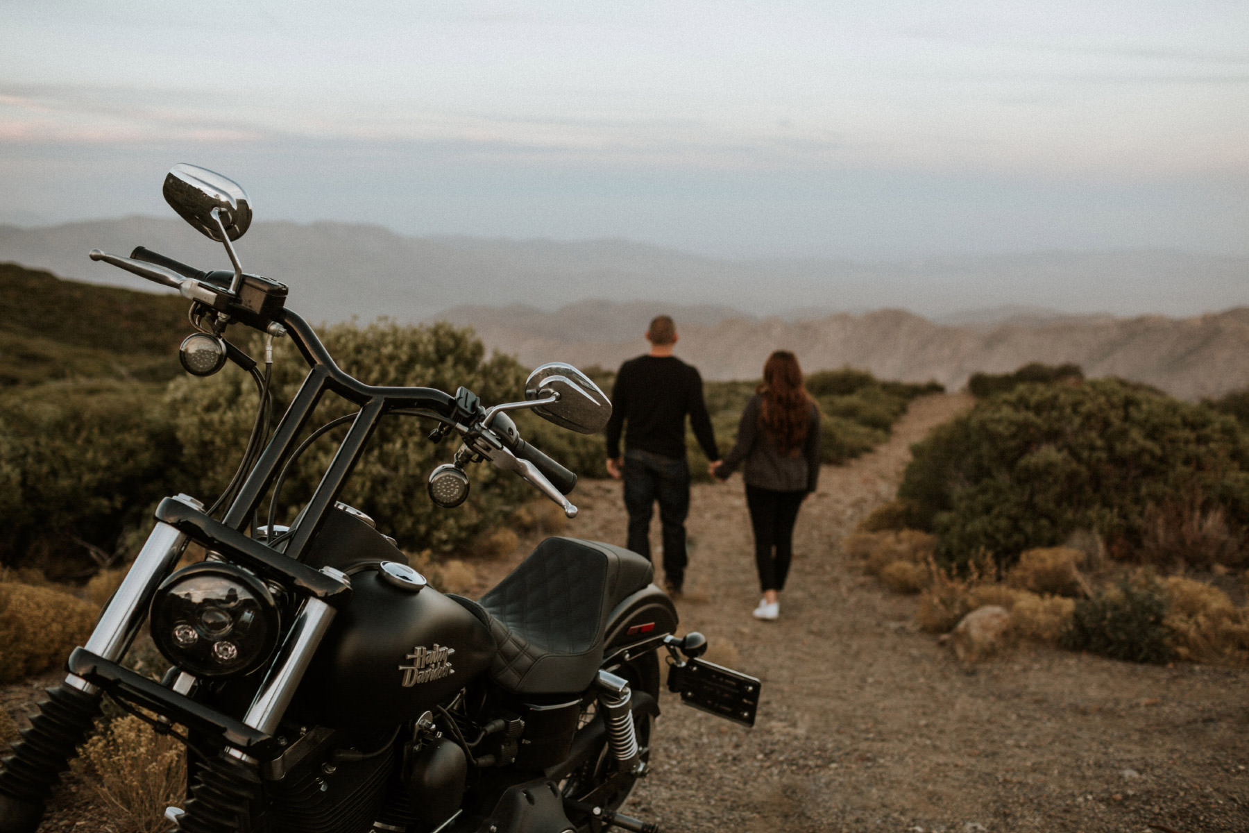 Harley Davidson in the mountains