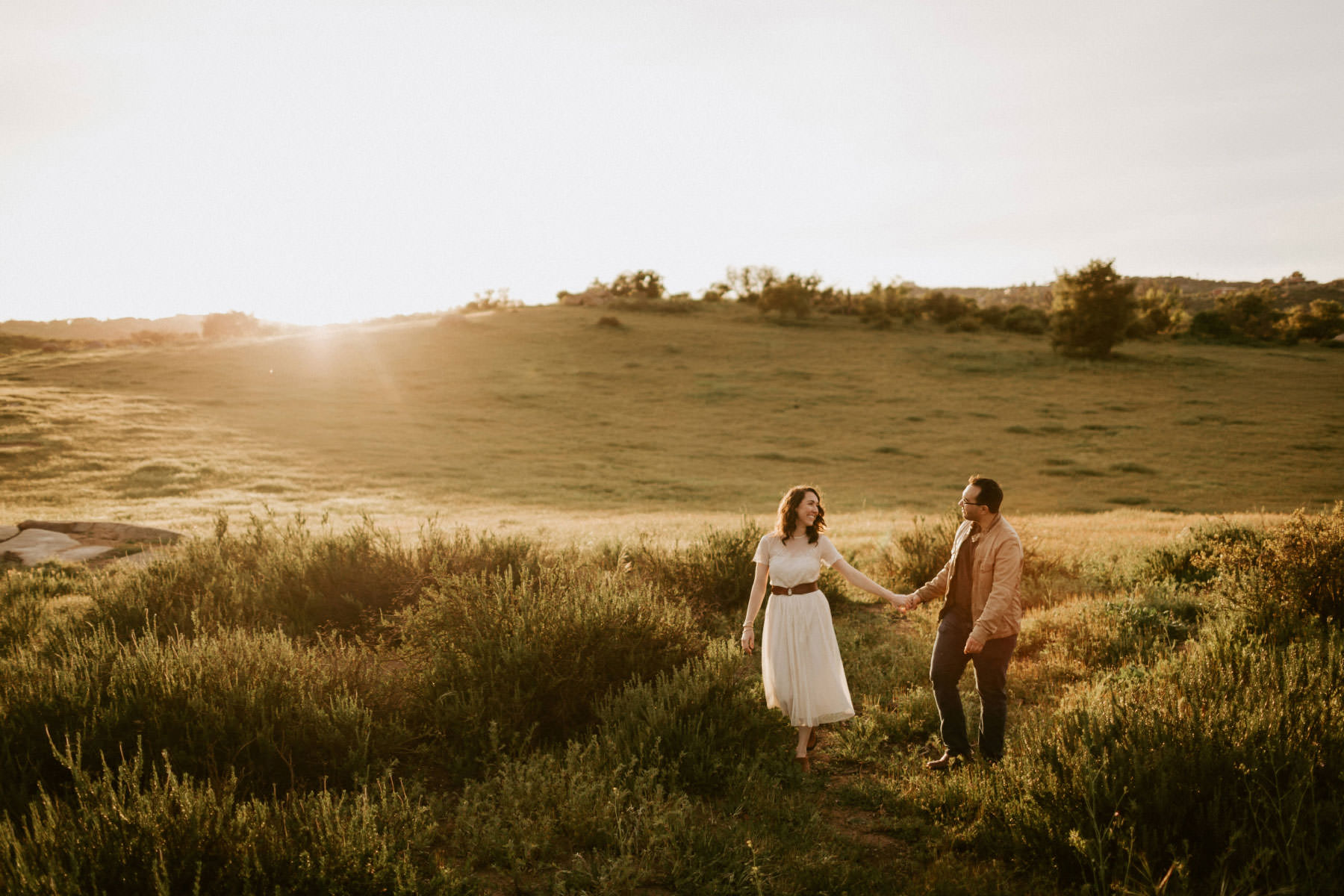 Ramona Grasslands Engagement : Lauren & Steve